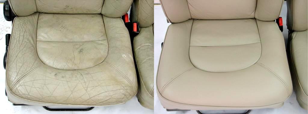 Ремонт кожи на сиденье