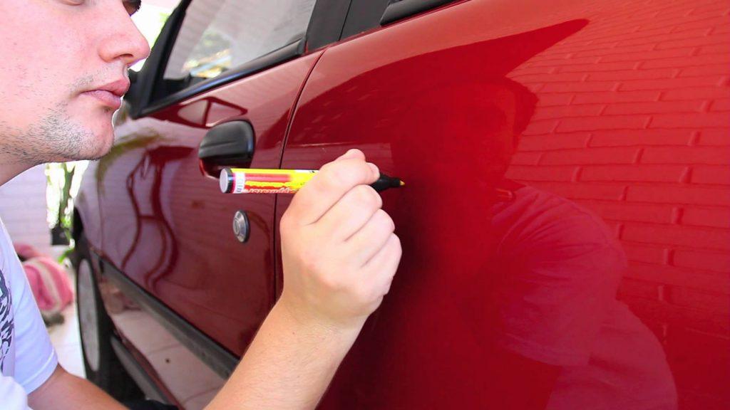 ремонт царапин маркером