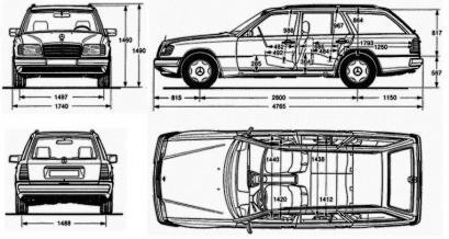 Мерседес 124: технические характеристики
