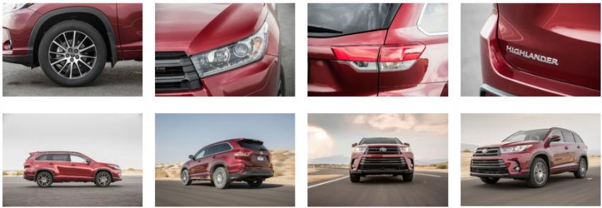 Тойота Хайлендер 2018 новый кузов, комплектации модели