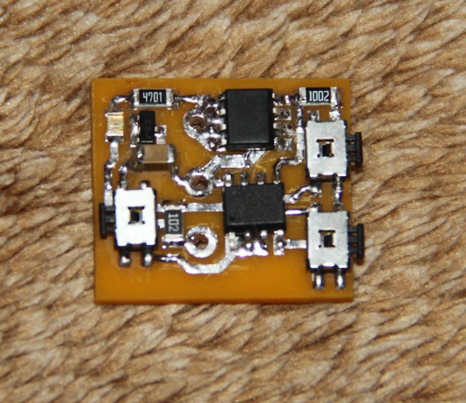 Электрическая схема моргающего стоп-сигнала «вариант 1».