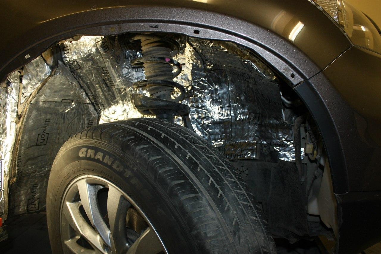 Шумоизоляция авто арок колес