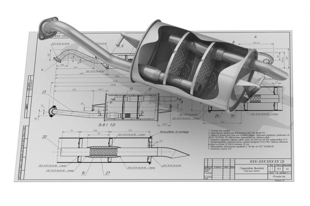 Схема глушителя своими руками фото 29